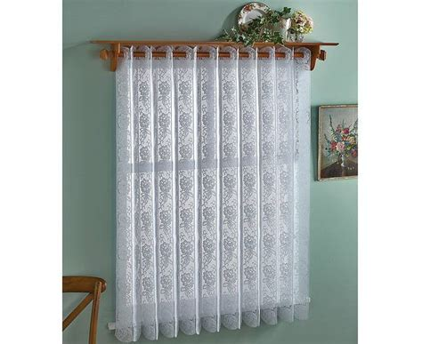 curtain blinds rose lace vertical pleated blind 183cm wide net curtain