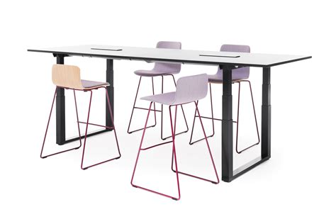 Adjustable Height Meeting Table Frankie Conference Table With Height Adjustable Sled Base Office Furniture Martela