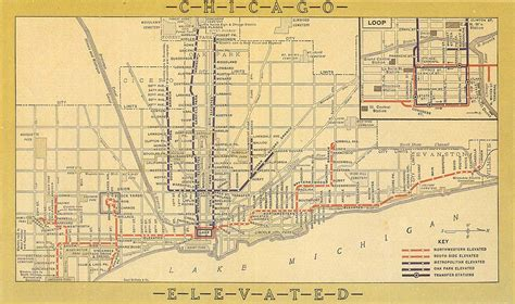 chicago map with lines east 63rd branch cta