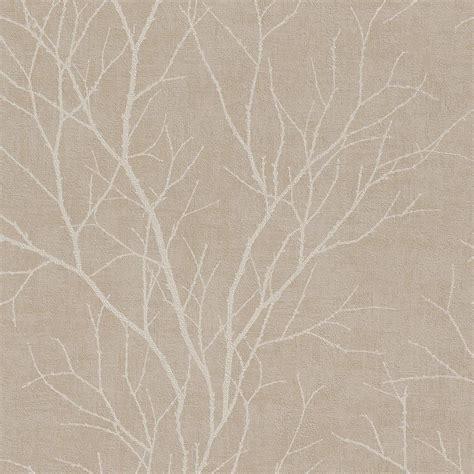 Rasch Twig Tree Branch Pattern Wallpaper Modern Non Woven