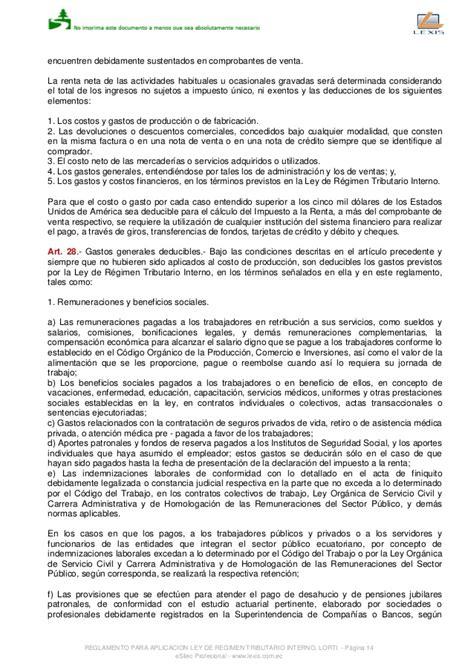 reglamento a la ley de regimen tributario interno ao 2014 reglamento a la ley de regimen tributario interno vigente