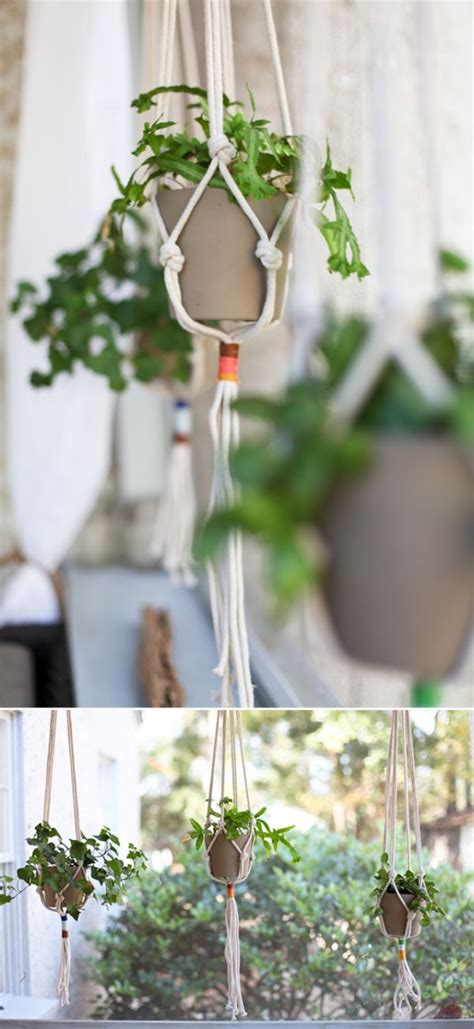 Hanging Planters Diy by 10 Easy Ways To Make Hanging Planters