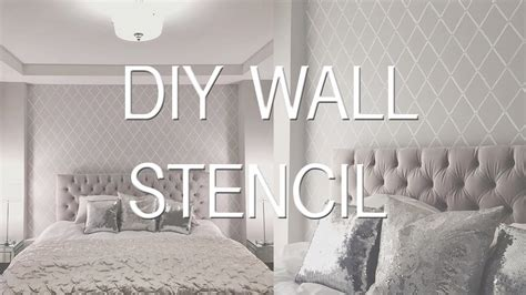 How To Do Wall Painting Designs Yourself how to stencil paint a wall diy wallpaper effect youtube