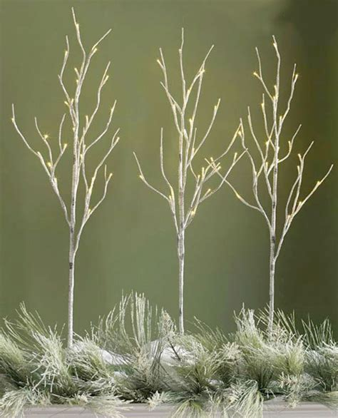 39 inch lighted birch branches 3 branches 96 lights