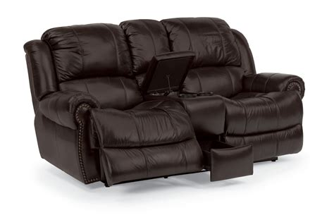 lazy boy reclining sofa with console sofa recliner recliner loveseat with console for