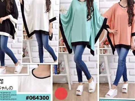 Supplier Baju Atiq Wide Dress Hq 0857 5562 7585 im3 wide two tone blouse model baju wanita baju kerja wanita