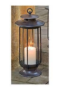 Outdoor Hurricane Candle Holders Hurricane Lantern Candle Holder Rustic Indoor Outdoor Cast