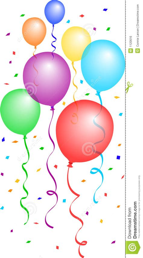 eps clipart ballons et confettis 2 eps illustration de vecteur image