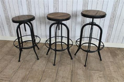 industrial style ls vintage style stools with a light blue frame
