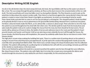 Gcse Essay Writing by Gcse Descriptive Writing Sle Answer