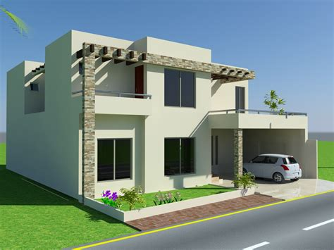 Front House Plans by 3d Front Elevation 10 Marla House Design Mian Wali
