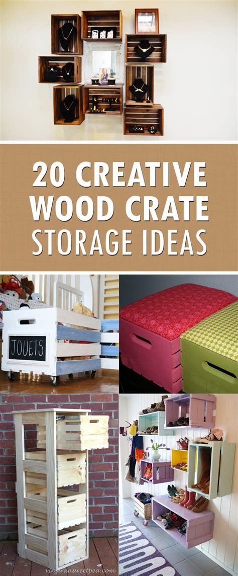 20 creative diy project ideas 20 creative diy wood crate storage ideas