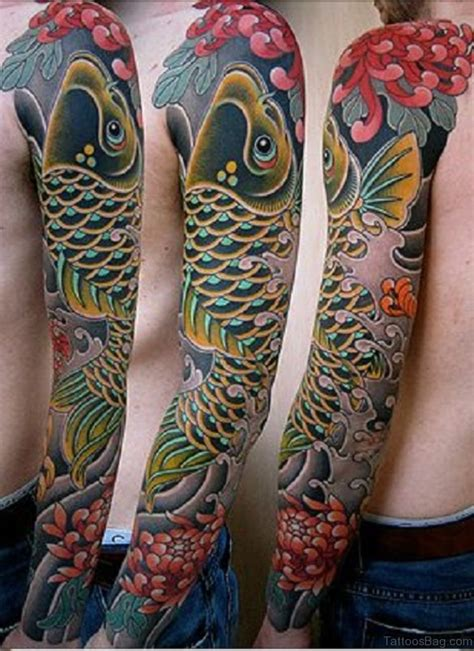 koi tattoo sleeve 66 stunning fish tattoos on sleeve