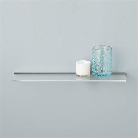 umbra sheer acrylic wall shelves the container store