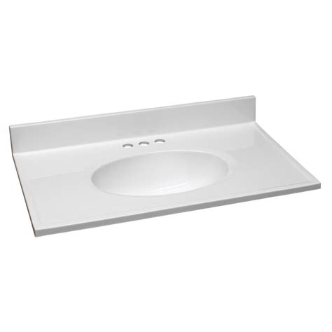 Vanity Top by Design House 31 In W Cultured Marble Vanity Top In White