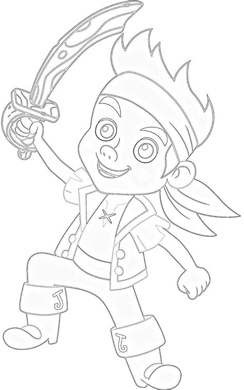 free coloring pages of jake and the never land
