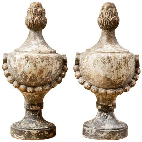 Decorative Finials by Pair Of Decorative Finials At 1stdibs