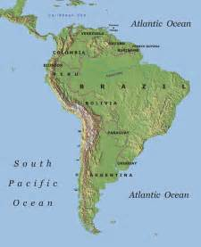 and south america physical map treks in south america