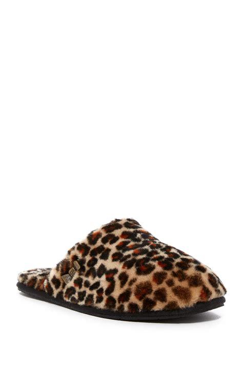 leopard slippers ugg leopard uggpure tm clog slipper in brown lyst