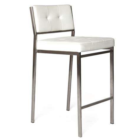 white modern stools modern counter stool in white colour