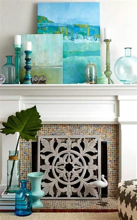 beach decorations for home best 25 fireplace mantel decorations ideas on pinterest
