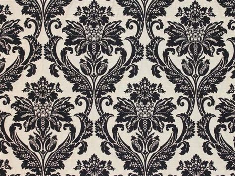 Black Damask Upholstery Fabric by Black Jacquard Damask Floral Upholstery Fabric