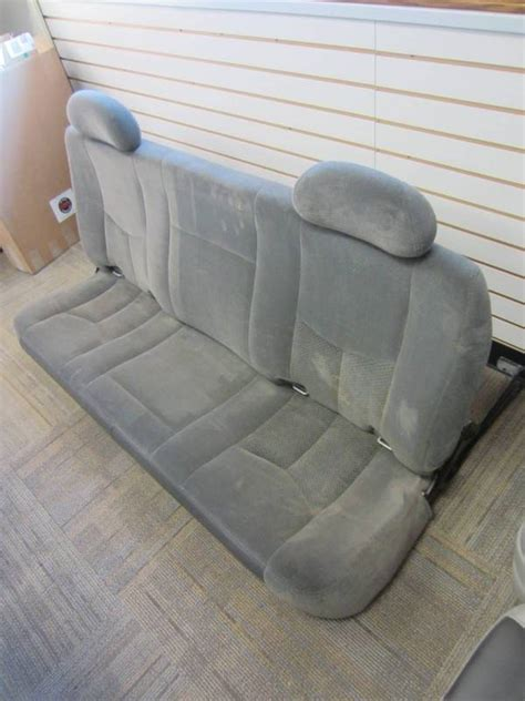 gmc sierra bench seat 99 06 chevy silverado gmc sierra gray cloth rear bench