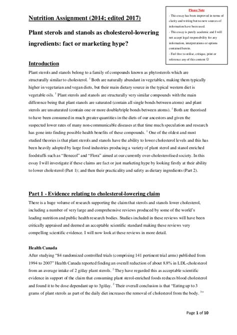 Nutrition Essays by Nutrition Topics For Research Paper