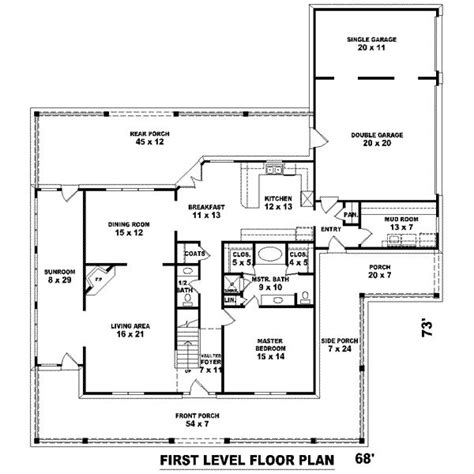 3500 square feet 3500 square feet 4 bedrooms 3 189 batrooms 3 parking space on 2 levels house plan 2554 all