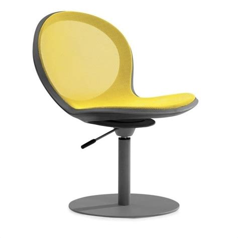 yellow swivel desk chair swivel base office chair with gaslift in yellow n102 yellow