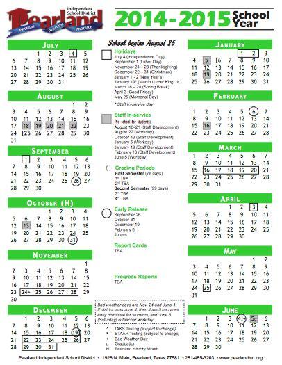Isd Calendar 2014 15 Pisd Board Approves 2014 15 School Calendar The