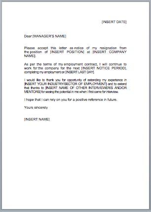 write resignation letter jobfoxcouk