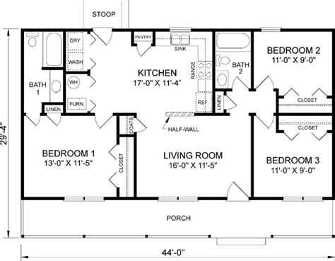 3 bedroom country house plans interior4you