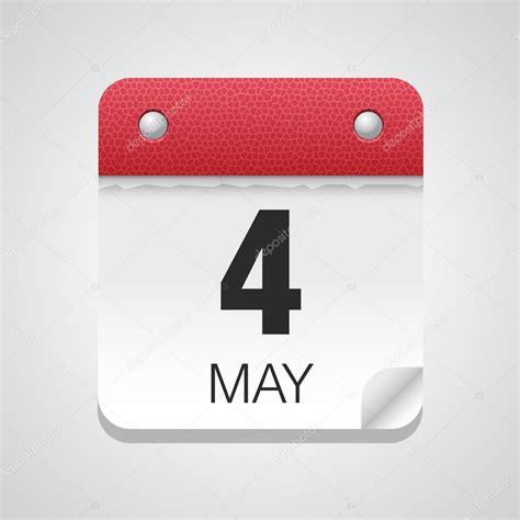 Calendrier 4 Mai Calendrier Simple Avec 4 Mai Image Vectorielle 71507781