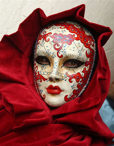 very cool mask in red at the 2010 carnevale in venice by