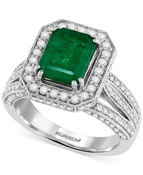 effy collection effy emerald 2 1 5 ct t w and