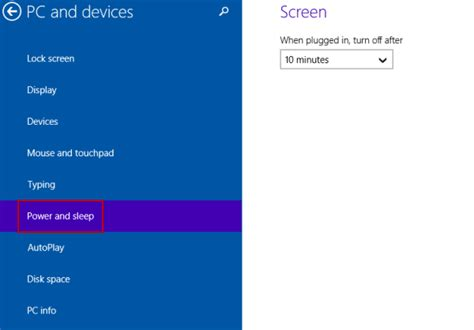 how to choose windows choose when to turn off display on windows 10