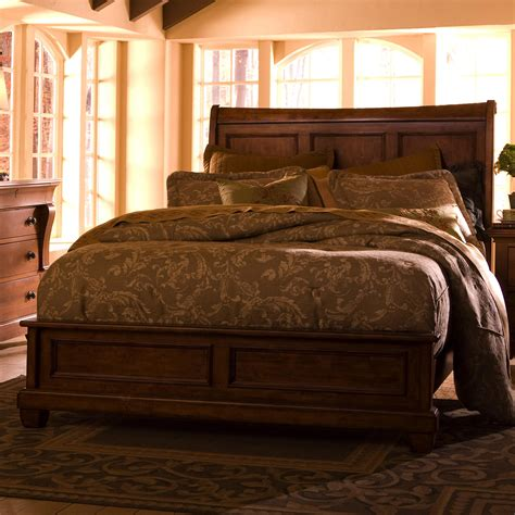 low headboard king beds california king low profile bed with sleigh headboard by