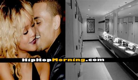 how to kiss in bathroom chris brown and rihanna are caught making out and kiss in