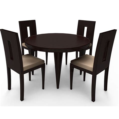 4 Set Dining Table Leda 4 Seater Dining Table Set Abesquare