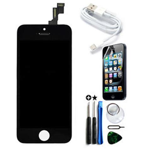 iphone 5s glass replacement lcd touch screen digitizer front glass assembly replacement for iphone 5s black