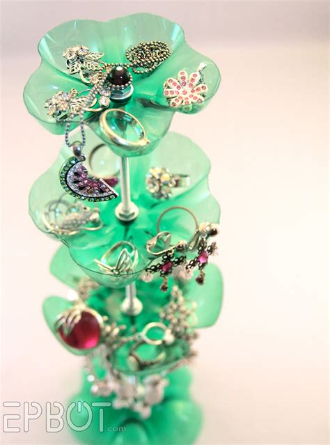 plastic bottle craft projects make a recycled soda bottle jewelry stand 187 dollar store
