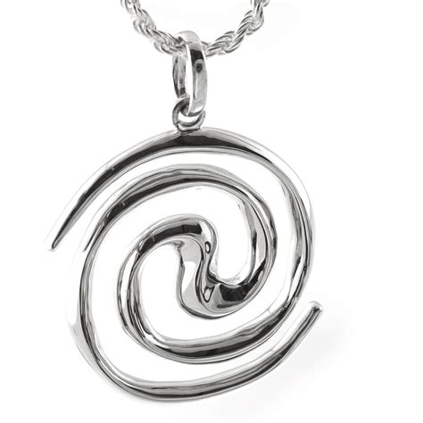 Spiral Silver Necklaces spiral galaxy silver necklace pendant spiral galaxy