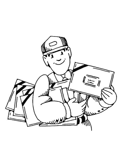 Mail Carrier Coloring Pages Free Coloring Books By Mail