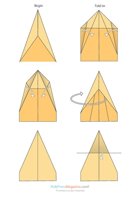 Directions To Make Paper Airplanes - glider plane paper crafts magazine