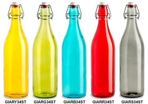 colors and bottles green yellow glass bottles specialty bottle
