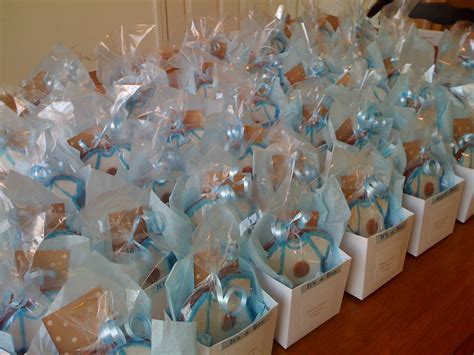 Easy Baby Shower Boy Favors Blue Theme Decorations Uniqe Simple Diy Candy Jars Bubblegum