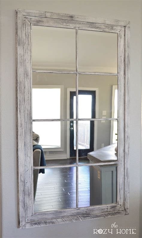 mirror home decor diy rh window pane oversized mirror diy home