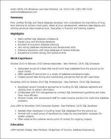 Pl Sql Developer Cover Letter by Pl Sql Developer Resume Best Resume Gallery