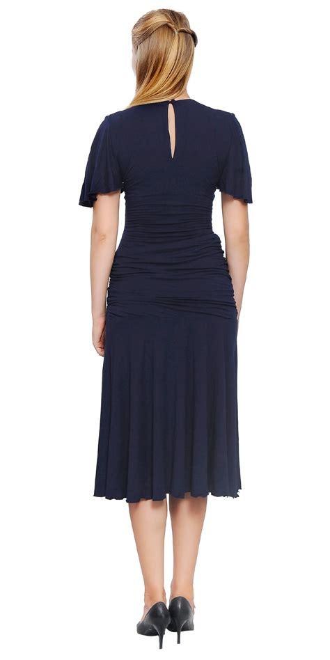 size 18 swing dress womens drop waist midi lady vintage retro swing 1920s